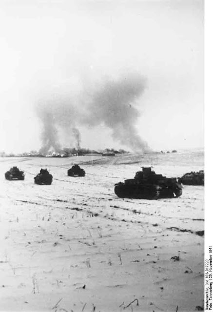 German Panzer IV tanks attacking near Moscow, 25 November 1941 worldwartwo.filminspector.com