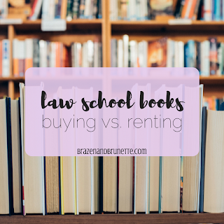 Want to know when you need to buy new law school books, when you should buy used law school books, and when you need to rent law school books? Here's what I suggest | brazenandbrunette.com