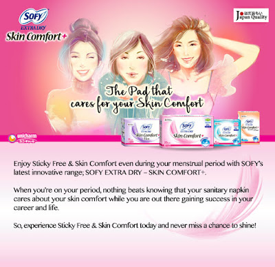 FREE Sofy Extra Dry Skin Comfort Sanitary Napkin Sample Giveaway