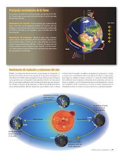 Apoyo Primaria Atlas de Geografía del Mundo 5to. Grado Capítulo 1 Lección 2 Principales Movimientos de la Tierra, Movimiento de Traslación y Estaciones del Año