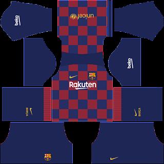 Kit Barcelona Dream League Soccer Home