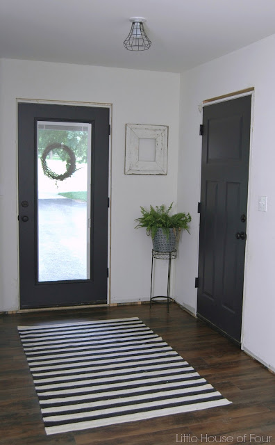 {Mudroom Progress} Painted interior doors with Sherwin Williams Iron Ore