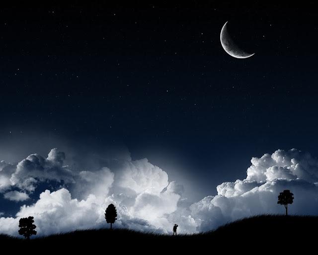Image result for langit dan bumi pada waktu malam