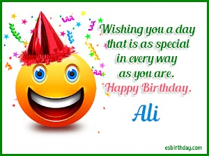 Happy Birthday Ali