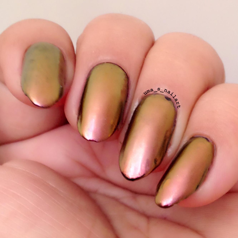 Uma\'s Nail Art: Ostar Rose Gold Chrome Powder Review and Swatches...