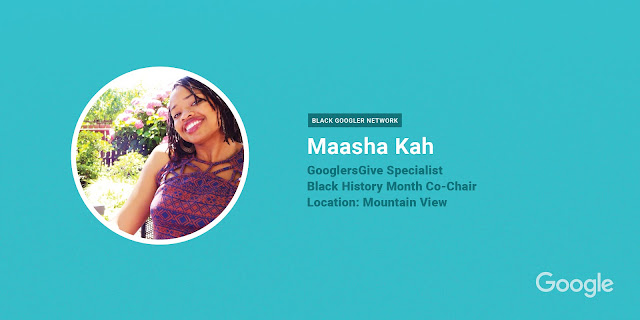 Maasha Kah, GooglersGive Specialist in Mountain View