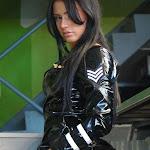 Andrea Rincon, Selena Spice Galeria 5 : Vestido De Latex Negro Foto 130