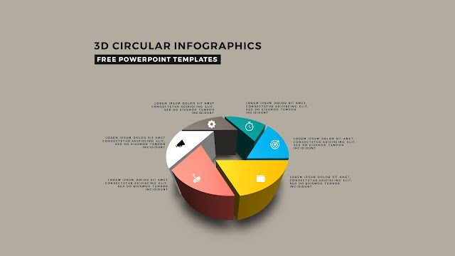3D Circular Infographic Free PowerPoint Template Slide 1