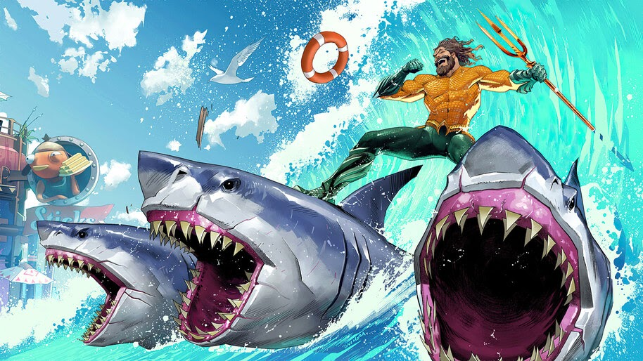 Fortnite, Aquaman, Chapter 2, Season 3, Loading Screen, King of the Beach, 4K, #5.2126