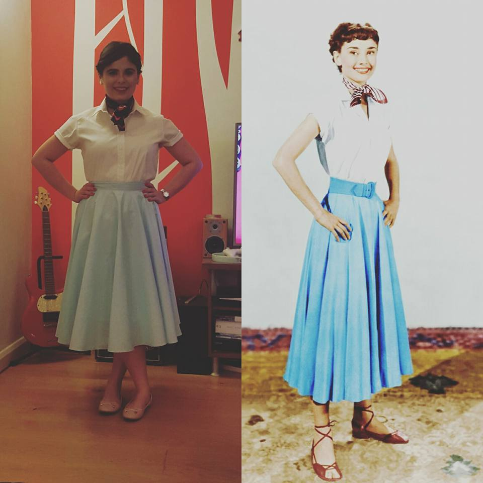 Dressing up as Audrey Hepburn  - The Cornerstone for Thoughts!