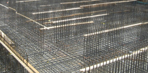 A 1.5m Thick Raft or Mat foundation-reinforcement arranging before concreting