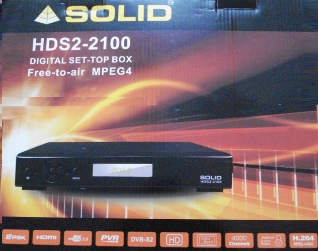 Solid HDS2-2100 DVB-S2 / MPEG-4 FTA Set-Top Box with Dolby Digital