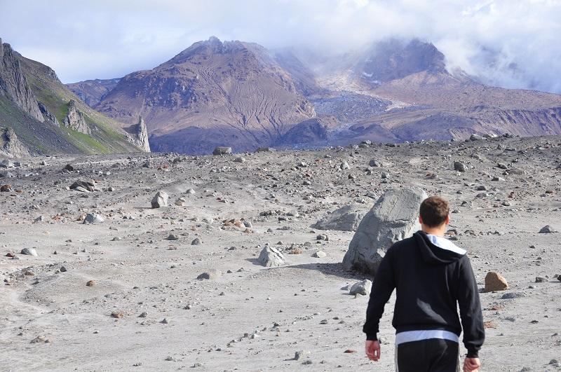 около склона извержение вулкан шивелуч камчатка