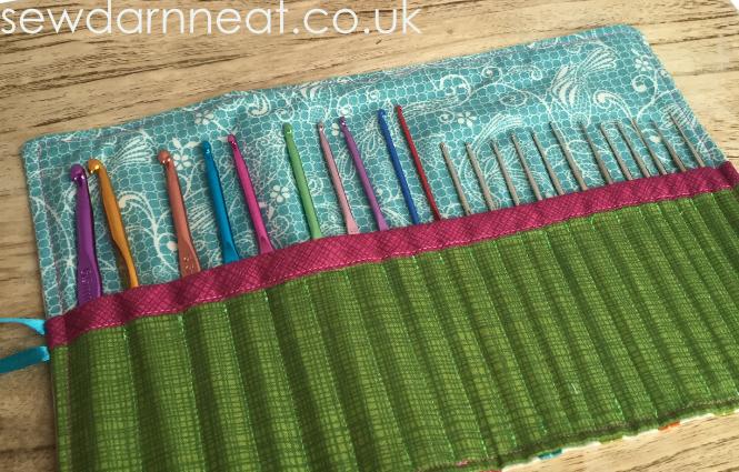 Sew Crochet Hook Roll Sew Darn Neat Sewing Blog