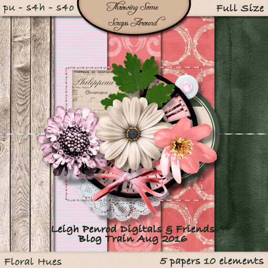 Leigh Penrod and Friends Floral Hues Blog Train