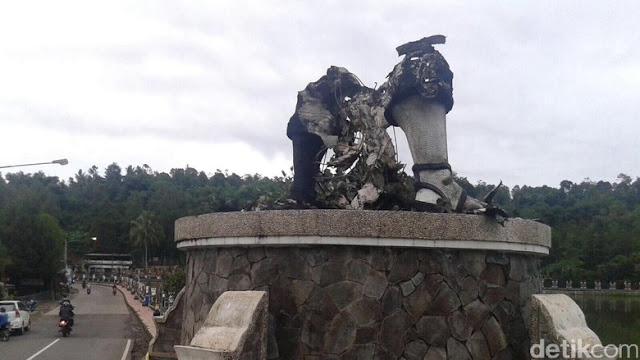Heboh, Patung Arjuna Purwakarta Dibakar Orang Tak Dikenal