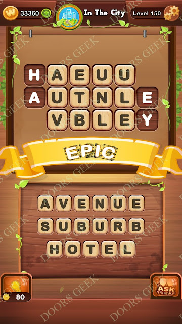 Word Bright Level 150 Answers, Cheats, Solutions, Walkthrough for android, iphone, ipad and ipod