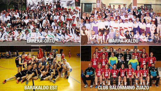 Ibarra-Kaldu y Erreka-Ortu será pregoneros y Barakaldo EST y Balonmano Zuazo pregoneras