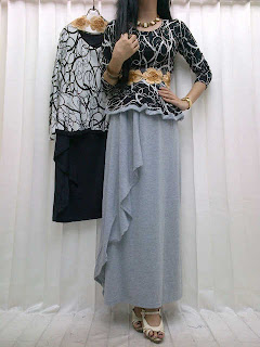 Stelan Blus + Rok Spandex fit to L