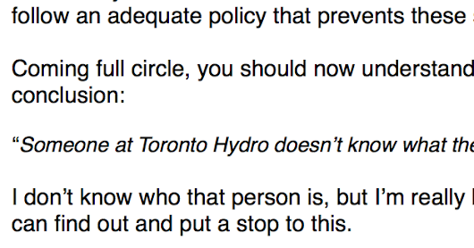 It looks like Toronto Hydro is breaching confidentiality...