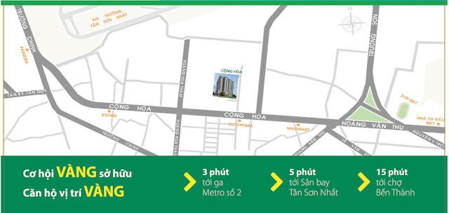 Vị trí dự án Cộng Hòa Garden Tân Bình.