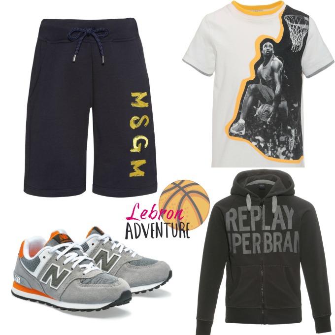 conjunto basket new balance grises