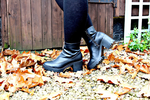 womens chunky grunge boots