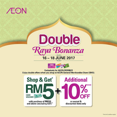 AEON Double Raya Bonanza Discount Offer Promo