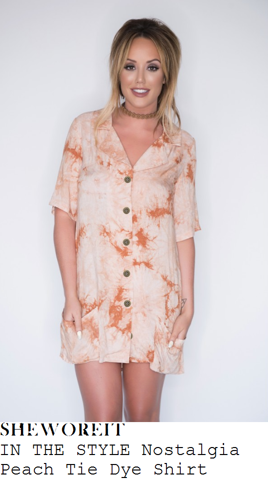 charlotte-crosby-in-the-style-nostalgia-peach-tie-dye-shirt-mini-dress