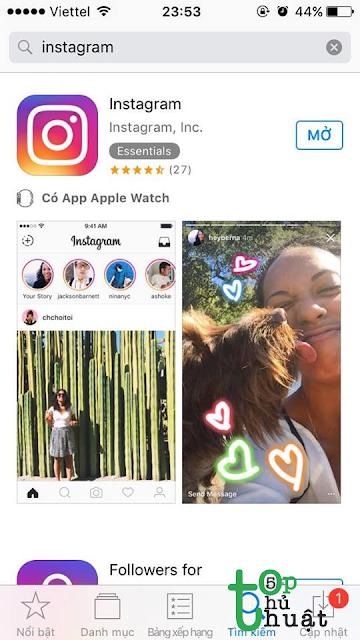 Tải và cài đặt phiên bản Instagram mới nhất