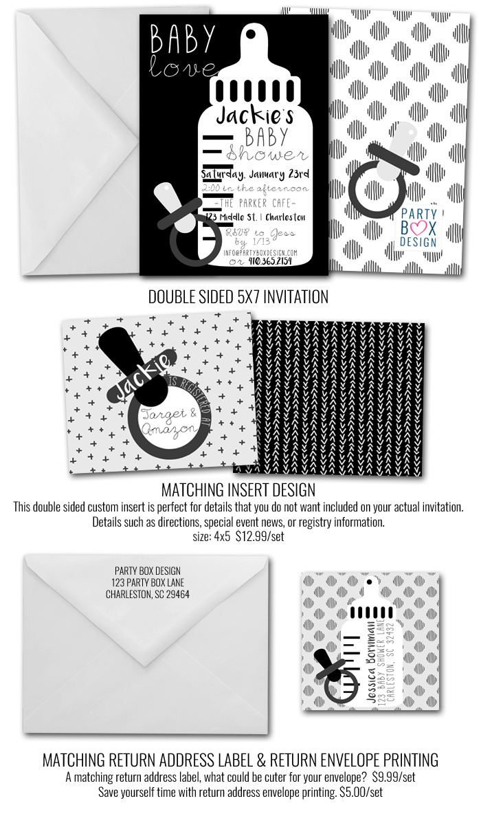 http://www.partyboxdesign.com/item_1993/Black-and-White-Baby-Shower.htm