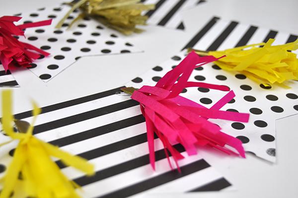 Tassel Die Cut Banners by Jen Gallacher for www.jengallacher.com #diecutting #tassel #banner #papercraft