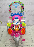 Sepeda Roda Tiga Royal RY9682CJ Cowboy Musik Dobel Jok Kain