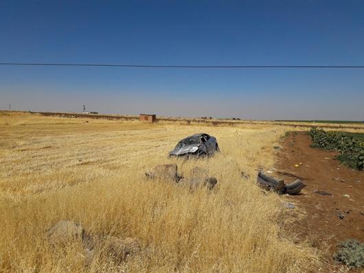 Çınar Beşpınar Yakınlarında Trafik Kazası: 2 Yaralı