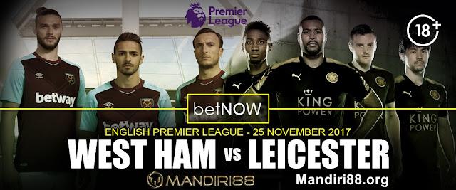 Prediksi Bola : West Ham United Vs Leicester City , Sabtu 25 November 2017 Pukul 03.00 WIB