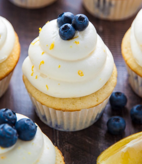 Lemon Blueberry Cupcakes #lemon #cupcakes
