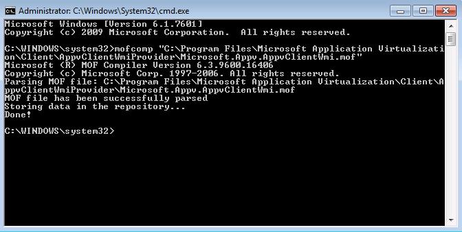 Article: Error (0x8004100e) Failed to open the WMI namespace