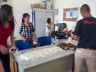 Boodle fight lunch at Office