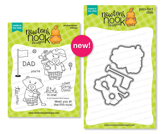 Winston's Tee Time | Golfing Bear Set by Newton's Nook Designs #newtonsnook
