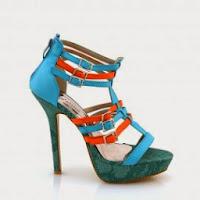 Sandale dama albastre piele eco