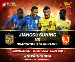 Streaming Jiangsu Suning vs Guangzhou Evergrande