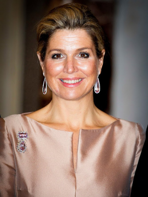 King Willem-Alexander, Queen Máxima and Princess Beatrix, Prince Constantijn of the Netherlands attended the Praemium Erasmianum Foundation Erasmus Prize 2015