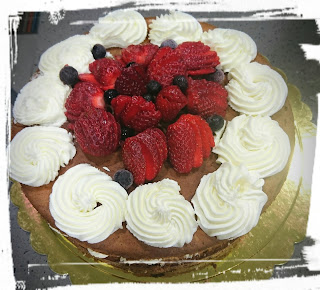 Cake with fructose