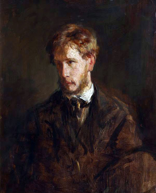 George Paul Chalmers, Self Portrait, Portraits of Painters, Paul Chalmers, Fine arts, Portraits of painters blog, Paintings of Paul Chalmers, Painter  Paul Chalmers