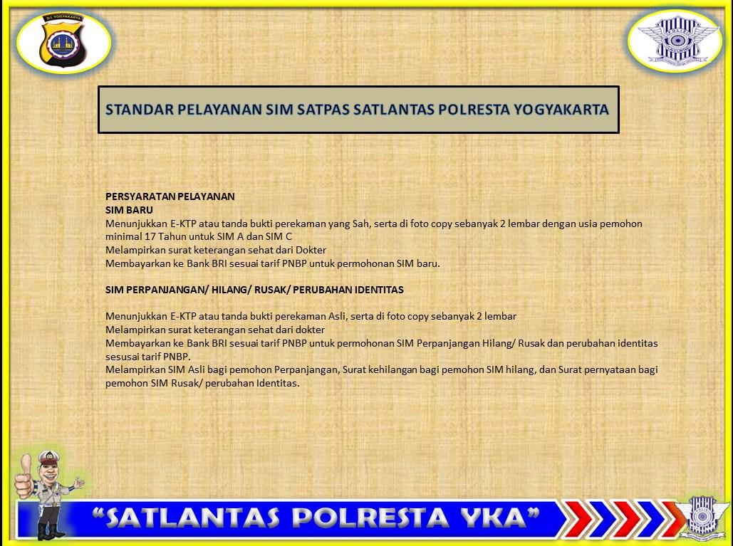 Surat Ijin Mengemudi Sim Polresta Yogyakarta