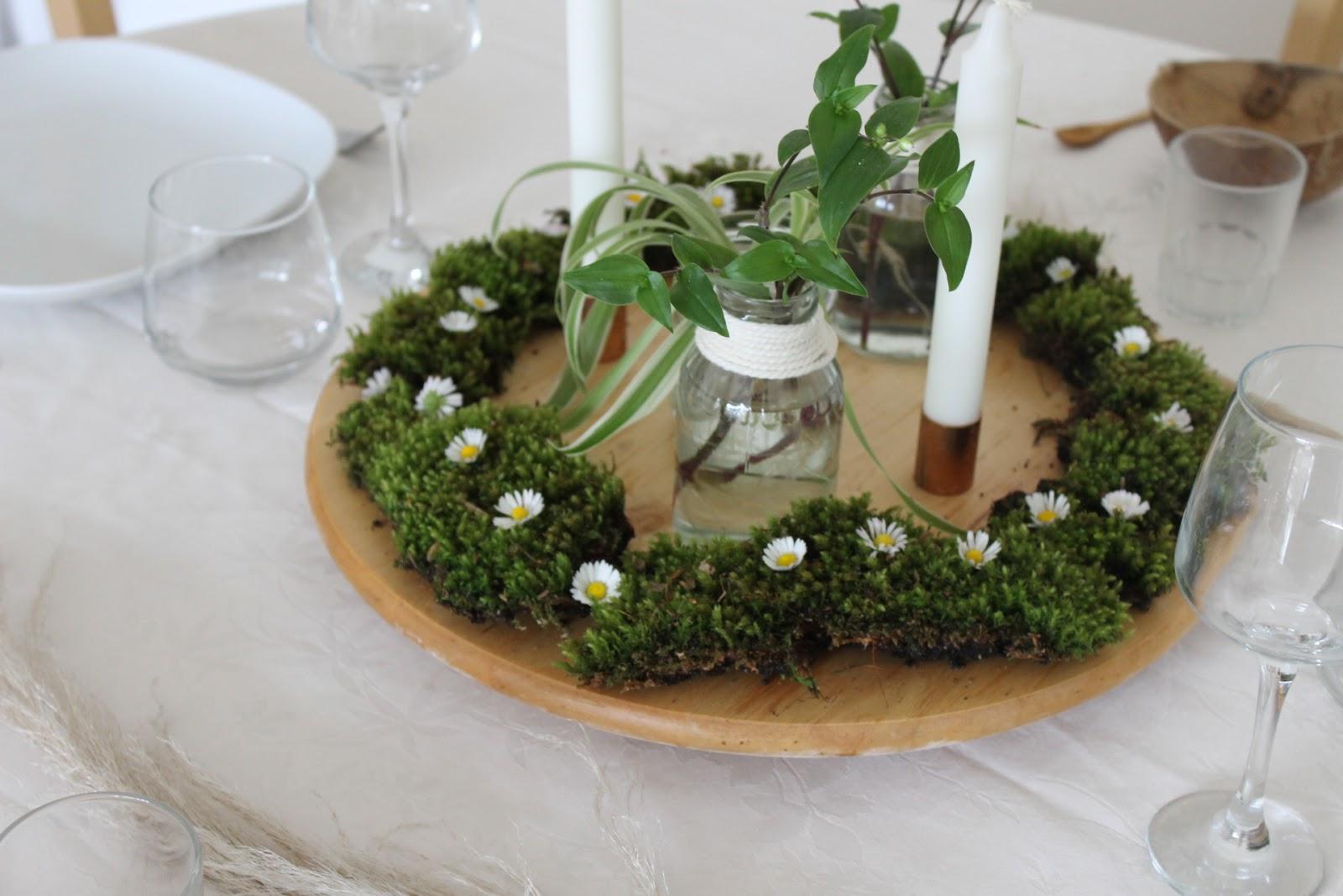 D coration de table ambiance v g tale du r ve dans les - Mousse decoration ...