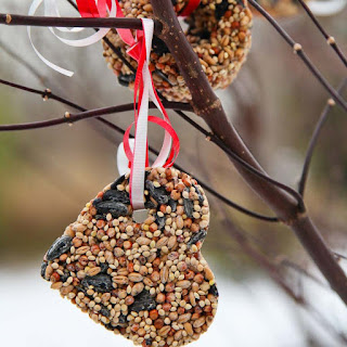 birdseed ornaments valentines