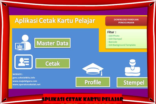 Aplikasi Cetak Kartu Pelajar Model Terbaru