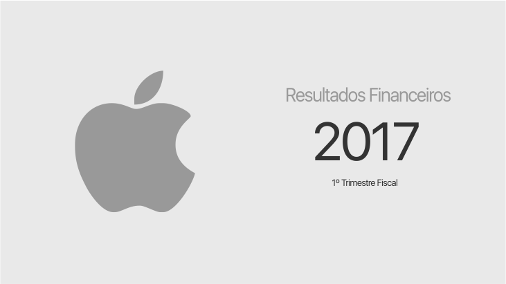 Apple - primeiro trimestre fiscal de 2017