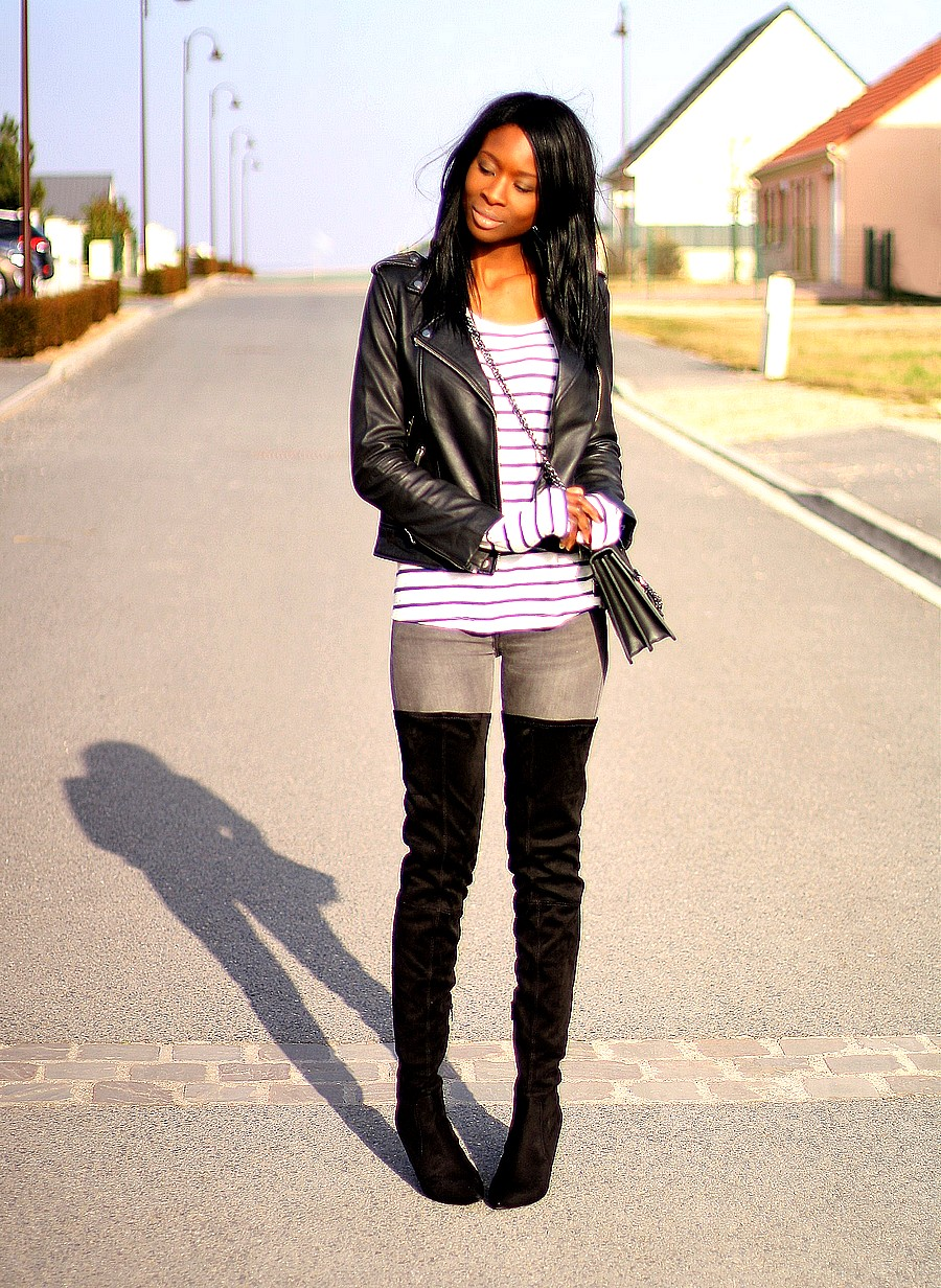 ootd-over-the-knee-boots-stripes-leather-jacket-trend